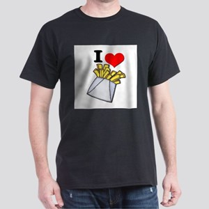 I Heart (love) French Fries Dark T-Shirt