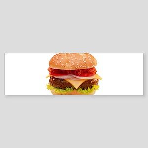 yummy cheeseburger photo Sticker (Bumper)