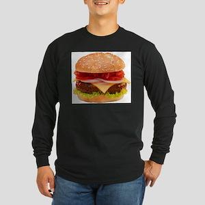 yummy cheeseburger photo Long Sleeve Dark T-Shirt