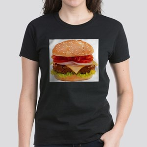 yummy cheeseburger photo Women's Dark T-Shirt