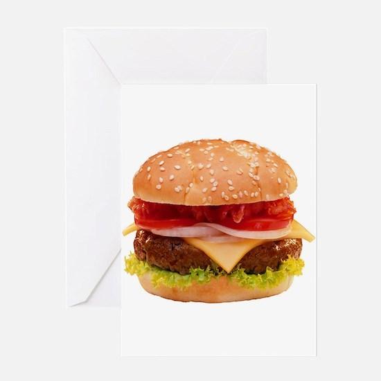 yummy cheeseburger photo Greeting Card