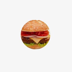 yummy cheeseburger photo Mini Button