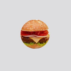 yummy cheeseburger photo Mini Button