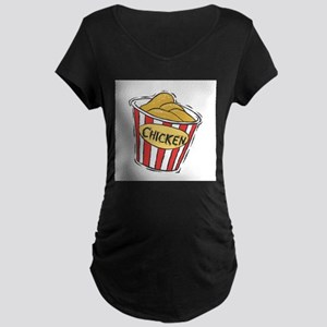 Bucket of Chicken Maternity Dark T-Shirt