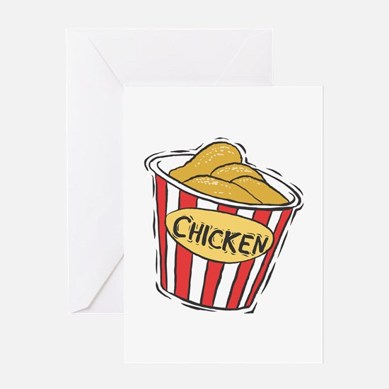 Bucket of Chicken Greeting Card