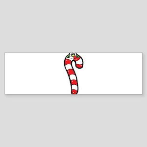 Happy Face Candy Cane Sticker (Bumper)