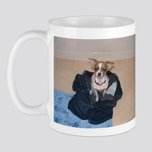 Chihuaha in big pants Mug