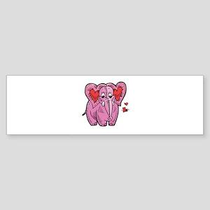 Heart Elephant Sticker (Bumper)
