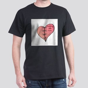 Bursting With Love Heart Dark T-Shirt