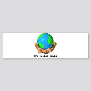 Earth In Our Hands Sticker (Bumper)