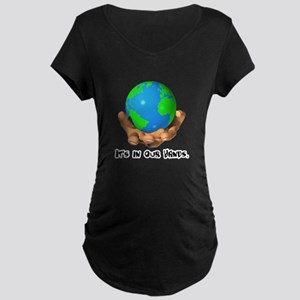 Earth In Our Hands Maternity Dark T-Shirt