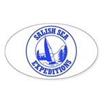 Salish Sea Expeditions Oval Sticker