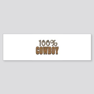 100% Cowboy Sticker (Bumper)
