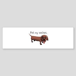 Pet My Weiner (Daschund) Sticker (Bumper)
