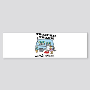 Trailer Trash with Class Sticker (Bumper)