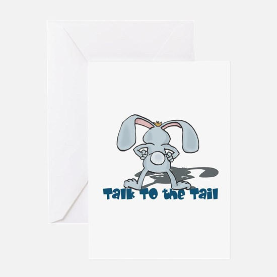 Talk to the Tail Bunny Rabbit Greeting Card