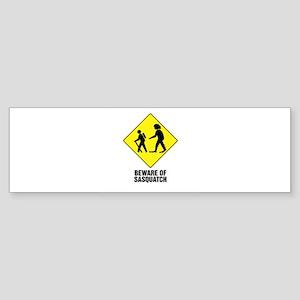 Beware of Sasquatch Sticker (Bumper)