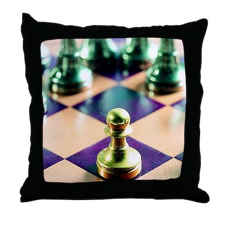 Game of Chess Design Throw Pillow
