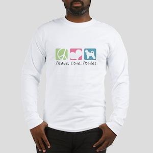 Peace, Love, Porties Long Sleeve T-Shirt