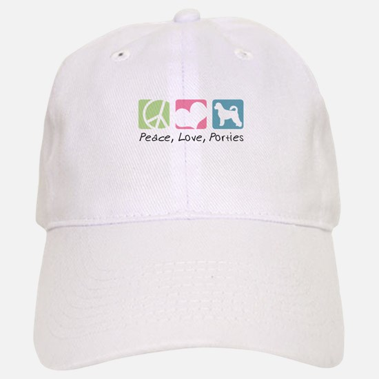 Peace, Love, Porties Baseball Baseball Cap