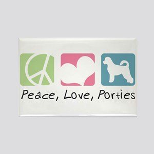 Peace, Love, Porties Rectangle Magnet