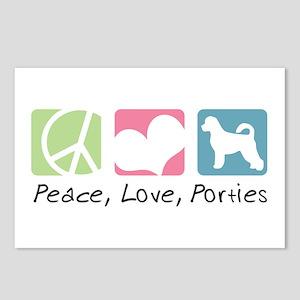 Peace, Love, Porties Postcards (Package of 8)