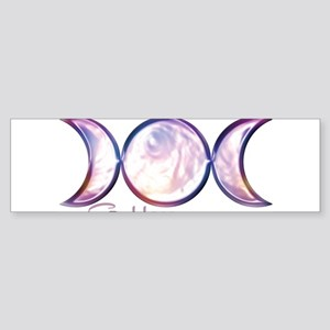 Triple Moon Goddess Sticker (Bumper)