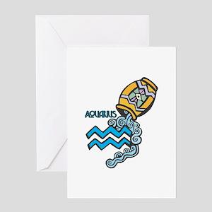 Aquarius Cool Water Design Greeting Card