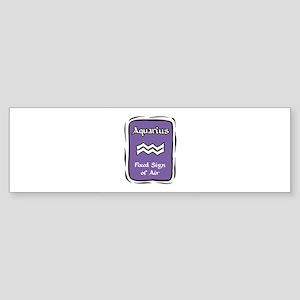 Aquarius Plaque Sticker (Bumper)