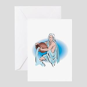 Aquarius Water Sign Greeting Card
