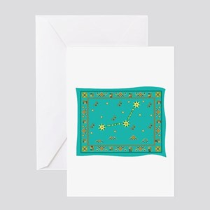 Capricorn Constellation Tapes Greeting Card