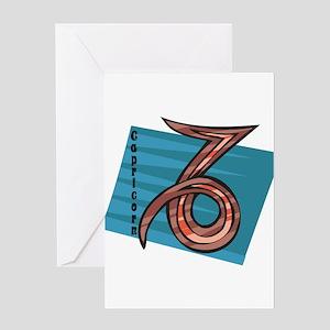 Cool Capricorn Zodiac Symbol Greeting Card