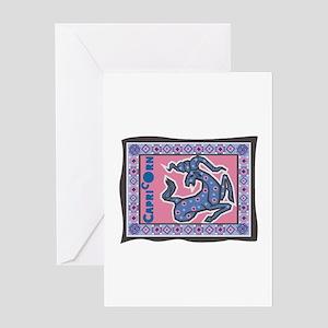Capricorn Tapesty Design Greeting Card
