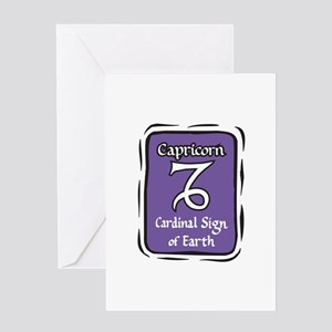 Capricorn Plaque Greeting Card