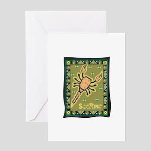 Scorpio Tapestry Design Greeting Card