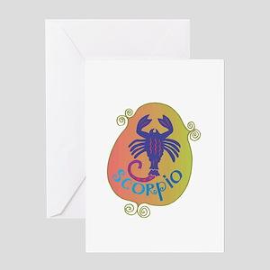 Cool Scorpio Design Greeting Card