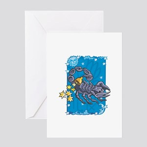 Purple Scorpio Design Greeting Card