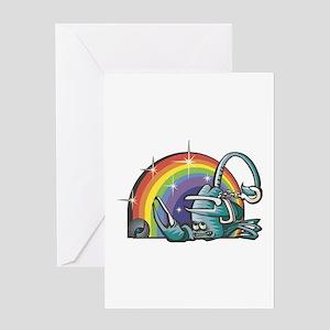 Scorpio With Rainbow Greeting Card