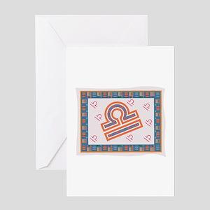 Libra Tapestry Design Greeting Card