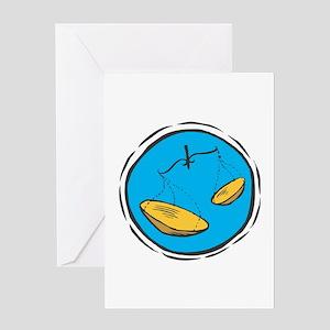 Circle Libra Sign Greeting Card