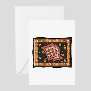 Virgo Tapestry Design Greeting Card