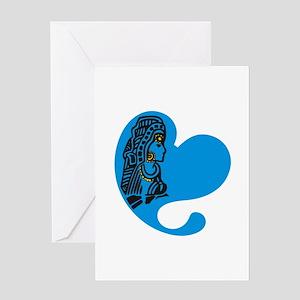 Virgo Heart Design Greeting Card