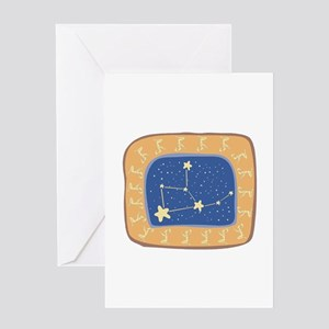 Virgo Constellation Greeting Card