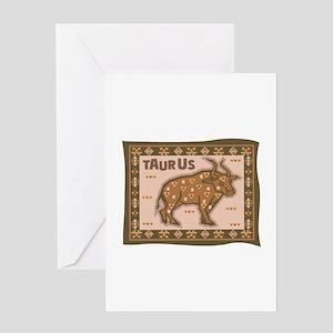 Taurus Tapestry Design Greeting Card