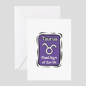 Taurus Plaque Greeting Card