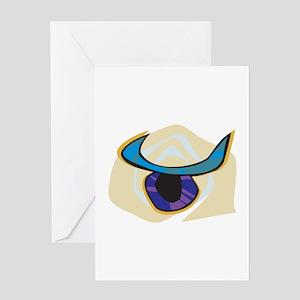 Funky Taurus Symbol Greeting Card
