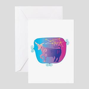 Cool Taurus Symbol Greeting Card