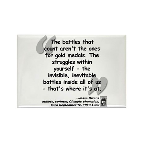 Owens Battles Quote Rectangle Magnet