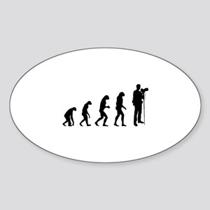 Evolution photographer Sticker (Oval)