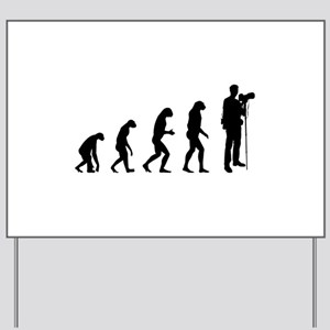 Evolution photographer Yard Sign
